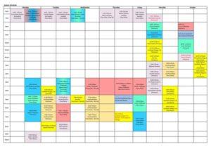 2021-2022 Skating Schedule